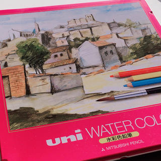 ミツビシエンピツ(三菱鉛筆)の★uni WATER COLOR 水彩色鉛筆 24色(色鉛筆 )