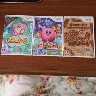 ウィー(Wii)の星のカービィ wii 3点セット(家庭用ゲームソフト)