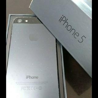 アイフォーン(iPhone)のiPhone5 SoftBank 32GB black 本体 箱(スマートフォン本体)