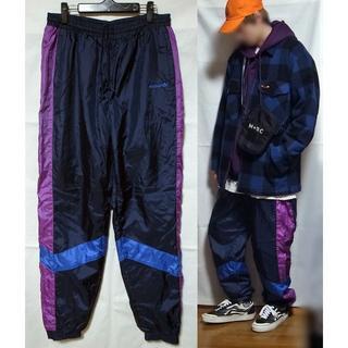アディダス(adidas)のアディダス 90年代 ヴィンテージ ナイロンパンツ トラックパンツ 紺 紫 青(その他)