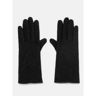 ザラ(ZARA)の新品 ZARA 手袋 黒 ブラック ウール78% L(手袋)