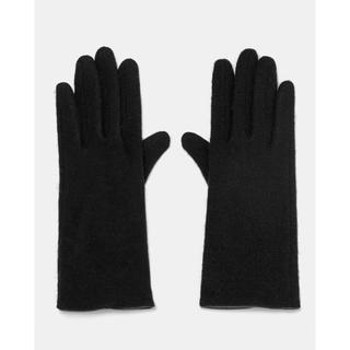 ザラ(ZARA)の新品 ZARA 手袋 黒 ブラック ウール78% M(手袋)