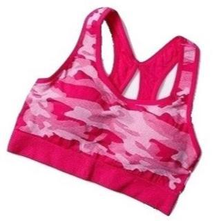 (おまけ付)カモフラ柄のスポーツブラ ピンク 新品(ウェア)