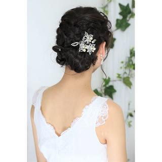 職人が作る本格派花嫁様用ヘッドドレス*ビーズ*日本製(ヘアピン)