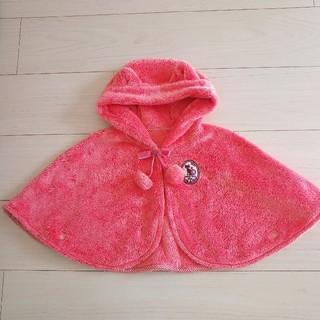 アナスイミニ(ANNA SUI mini)の美品 アナスイミニ ポンチョ ピンク(ジャケット/コート)