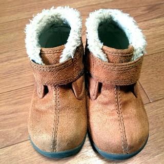 ムジルシリョウヒン(MUJI (無印良品))の14㎝無印ファーショートブーツ(ブーツ)