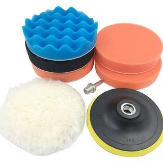 ★限定SALE中★ポリッシャー バフ 洗車用 マジックテープ式 (8点セット)(洗車・リペア用品)