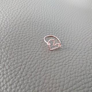 ハートリング① カラー ゴールド 直径 15センチ 指輪  ハンドメイド(リング(指輪))