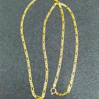 アヴァランチ(AVALANCHE)の10K イエローゴールド フィガロチェーン 60センチ ソリッド 美品(ネックレス)
