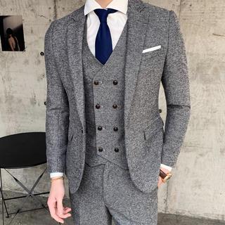 メンズ スーツ 3セット ビジネス 結婚式 パーティー 即購入Ok(セットアップ)
