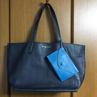 セルヴィッジ(selvedge)のセルヴィッチ 紺色レザートートバッグ(トートバッグ)