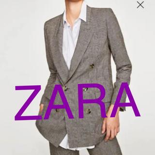 ザラ(ZARA)のZARA チェックジャケット(テーラードジャケット)