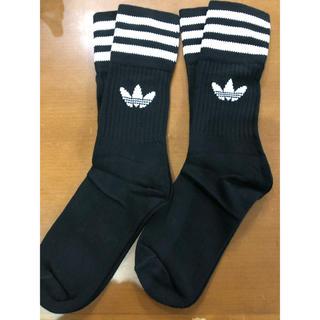 アディダス(adidas)のadidas ソックス ブラック 2足  22〜24cm(ソックス)