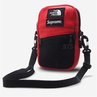 シュプリーム(Supreme)のSupreme TNF Leather Shoulder Bag red(ショルダーバッグ)