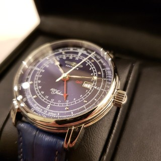 ツェッペリン(ZEPPELIN)のZEPPELIN 腕時計 100周年 ネイビー文字盤 76463(腕時計(アナログ))