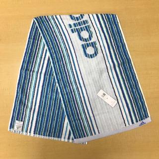 アディダス(adidas)の【新品】adidas スポーツタオル ストライプ ブルー 約34×110cm(タオル/バス用品)