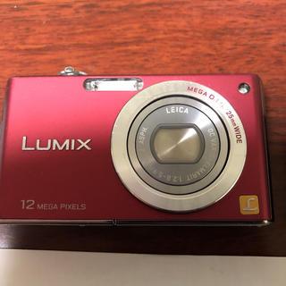 パナソニック(Panasonic)のLUMIX DMC-FX40 デジカメ レッド(コンパクトデジタルカメラ)