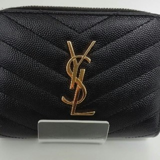 Saint Laurent - Yves Saint Laurent (YSL) 【二つ折り財布】 ブラック