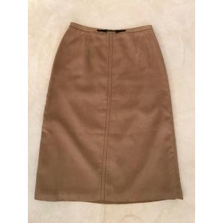 ジェイプレスレディス(J.PRESS LADIES)のスエード調タイトスカート(ひざ丈スカート)