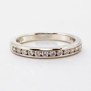 ティファニー(Tiffany & Co.)のティファニー  ハーフ ダイヤモンドリング PT950 5.5号 新品仕上げ(リング(指輪))