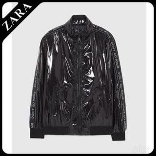 ザラ(ZARA)のZARA エナメルジャケット【XLサイズ】(ブルゾン)
