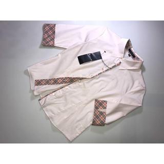 バーバリー(BURBERRY)の新品150Aバーバリーロンドンシャツブラウスカッターシャツ薄ピンク系チェック(その他)