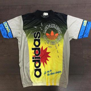 アディダス(adidas)の送料無料!アディダスadidasヴィンテージサイクルシャツ自転車バイクデサント(Tシャツ/カットソー(半袖/袖なし))