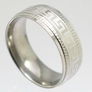 ギザウエィブステンレスリング 18号 新品 クリックポスト送料無料(リング(指輪))