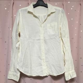 ジーユー(GU)の美品!GU*綿の長袖シャツ*Mサイズ(シャツ/ブラウス(長袖/七分))