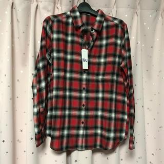 ジーユー(GU)の新品! GU*フランネルチェックシャツ*ネルシャツ*Lサイズ(シャツ/ブラウス(長袖/七分))