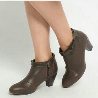 インデックス(INDEX)の新品♥index/インデックス♥プチリボンブーティ♥ブーツ ブラウン 未使用(ブーツ)