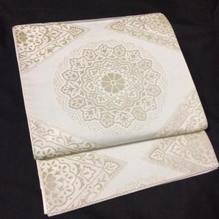 正絹 華紋模様織出し袋帯(帯)