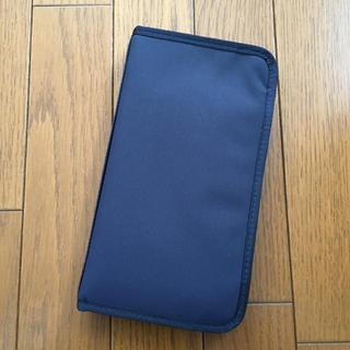ムジルシリョウヒン(MUJI (無印良品))の無印良品 パスポートケース クリアポケット付き ネイビー(ボディバッグ/ウエストポーチ)