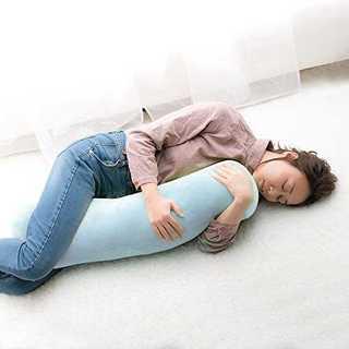 【新生活応援】もちもち 抱き枕ブルー大きめ80㎝(枕)