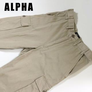 アルファ(alpha)のALPHAアルファカーゴパンツ☆サイズS約82cm(ワークパンツ/カーゴパンツ)