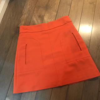 ザラ(ZARA)のZARA / オレンジスカート(ひざ丈スカート)
