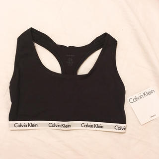 カルバンクライン(Calvin Klein)の新品!カルバンクライン ブラレット Sサイズ ブラック(ブラ)