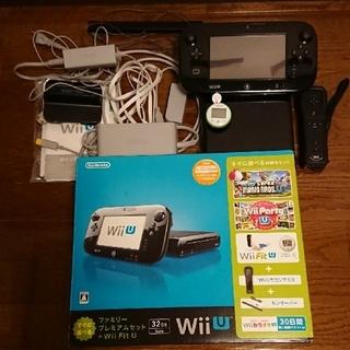ウィーユー(Wii U)のWii U ファミリープレミアセット  32GB 黒(家庭用ゲーム本体)
