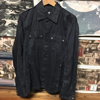 ジョゼフ(JOSEPH)のリネン 100% ジョゼフオム シャツジャケット 麻 紺色 Mサイズ(シャツ)
