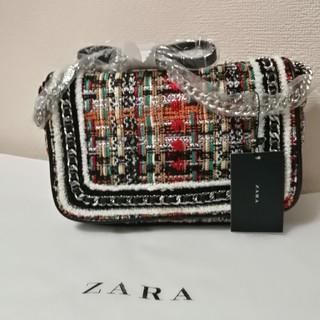 ザラ(ZARA)のZARAツイードチェインハンドバッグショルダーバッグ(ショルダーバッグ)