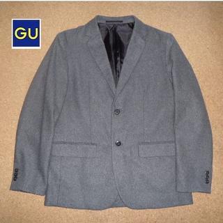 ジーユー(GU)の送料無料 GU ジャケット(グレー)サイズL USED(テーラードジャケット)