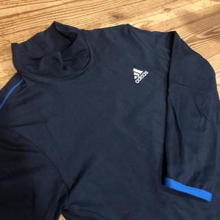 アディダス(adidas)のアディダス 紺 青 ハイネック 長袖 Tシャツ 150 160(Tシャツ/カットソー)