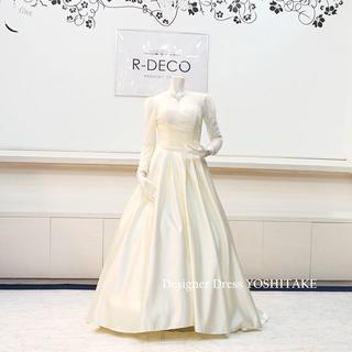 ウエディングドレス(パニエ無料) ライトイエロー 挙式/二次会/披露宴/前撮り(ウェディングドレス)
