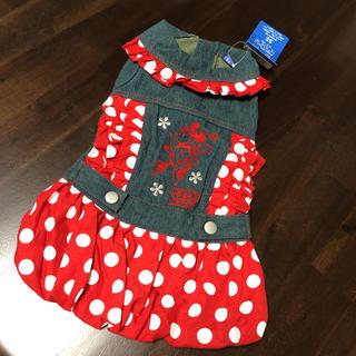 ディズニー(Disney)のわんこ洋服 ミニーちゃんデニムワンピース(ペット服/アクセサリー)
