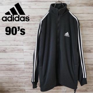 アディダス(adidas)の90's Adidas サイドライン フリース トラックジャケット 国旗タグ(ブルゾン)