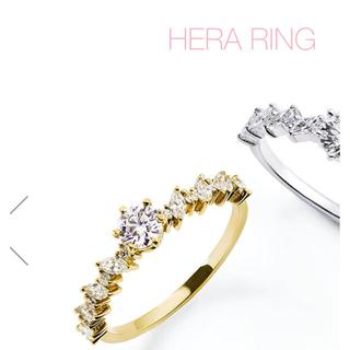 アーカー(AHKAH)のAHKAH アーカー ヘラリング  9号  美品☆(リング(指輪))