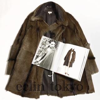 エルメス(Hermes)のHERMES マルジェラ期 キッド ファー ビッグシルエット コート E1156(毛皮/ファーコート)