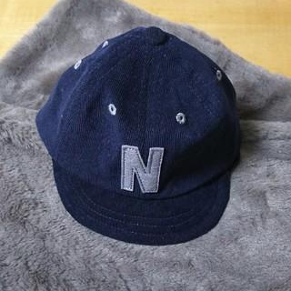 シマムラ(しまむら)の【新品・未使用】ベビー 帽子 48cm ゴム紐つき 男の子(帽子)