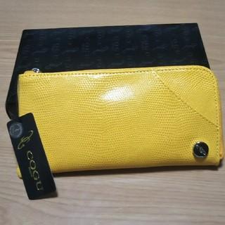 コグ(COGU)のCOGU L型財布 新品未使用 イエロー(長財布)