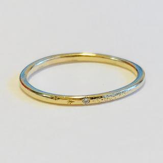アーカー(AHKAH)の【定価3万5千円】AHKAH メテオール リング K18YG × ダイヤ(リング(指輪))